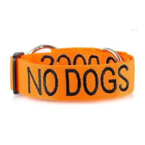 no dogs S/M Clip Collar